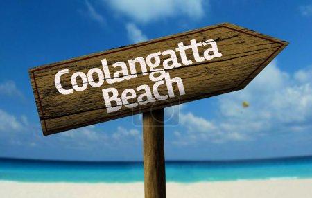 Coolangatta Beach, Australia wooden sign