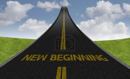 New Beginning Creative road sign