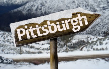 Pittsburg wooden sign