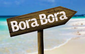 Bora Bora wooden sign