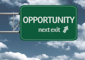 Opportunity, next exit creative road sign