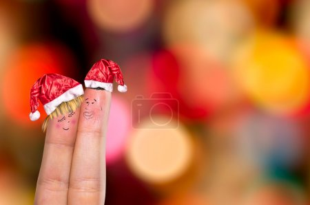 Lovely Couple Fingers in Christmas theme