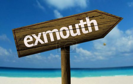 Exmouth wooden sign