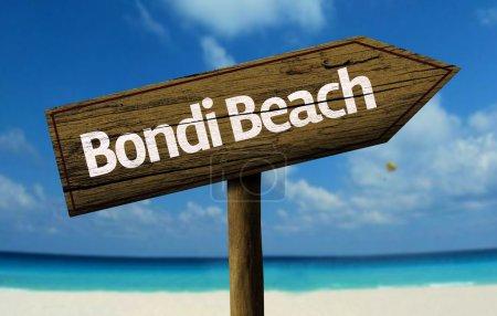 Bondi Beach, Australia wooden sign