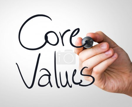 Core Values hand writing