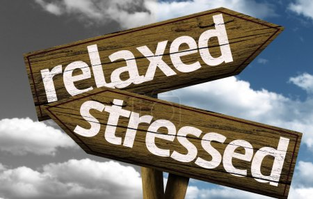 Relaxed x Stressed creative sign