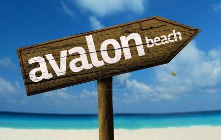 Avalon Beach, Australia wooden sign