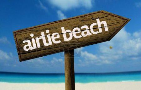 Airlie Beach, Australia wooden sign