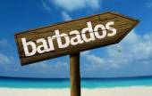 Barbados wooden sign