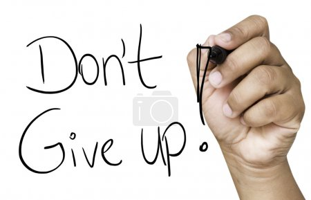 Don't Give Up hand writing