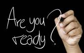 Are you ready hand writing