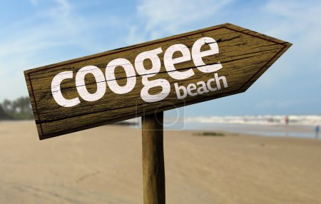Coogee Beach wooden sign