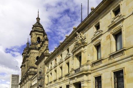 Bogota Cathedral in Bolivar Square