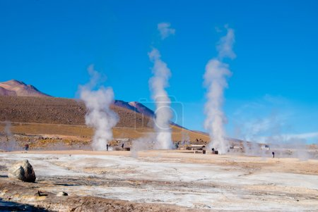 Geysers in an amazing landscape