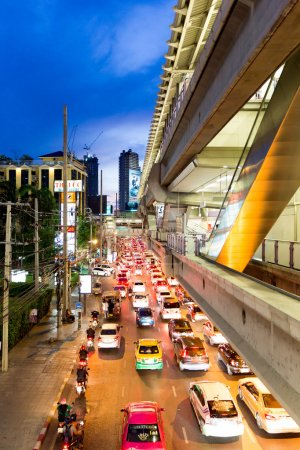 THAILAND, BANGKOK - CIRCA JUL 2014: Road traffic in Bangkok, Thailand.
