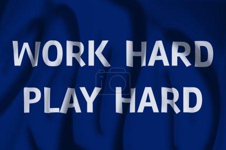 Work Hard Play Hard Flag