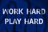 Work Hard Play Hard Flag