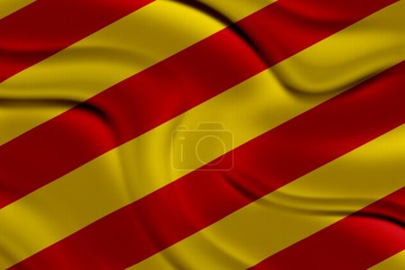 Amazing Flag of Catalonia