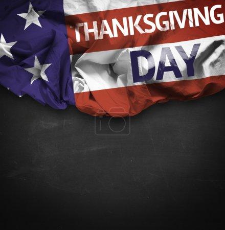 USA Thanksgiving Day waving flag
