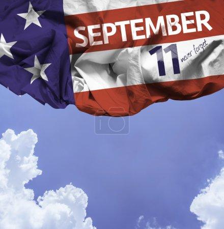 September 11 waving flag