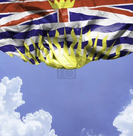 British Columbia waving flag