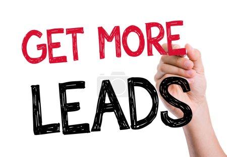 Get More Leads written on the wipe board