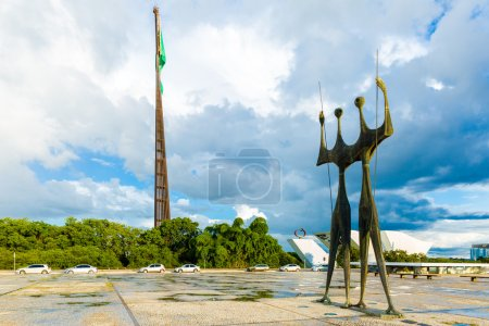 Square of the Three Powers in Brasilia, the capital of Brazil