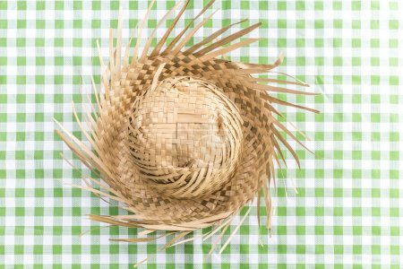Brazilian Straw Hat on the table (Festa Junina Theme)