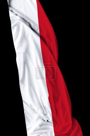 Yemen waving flag on black background