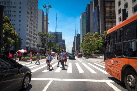 Paulista Avenue in Sao Paulo, Brazil