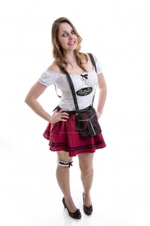 Young woman in traditional bavarian costume