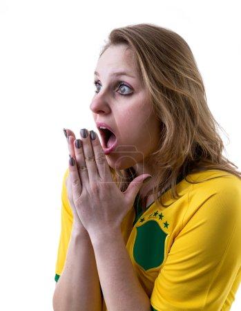 Brazilian fan apprehensive