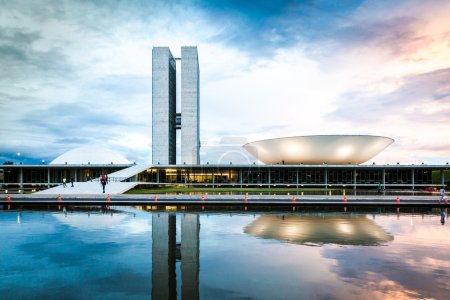 Brazilian National Congress in Brasilia, Brazil.