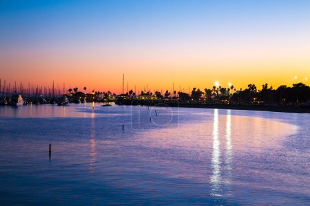 Sunset at Santa Monica in California, USA