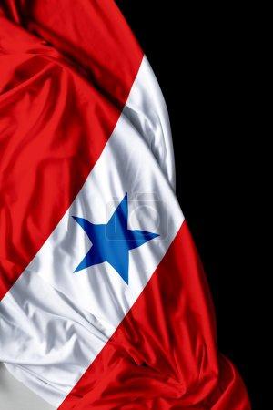 Belem do Para waving flag on black background
