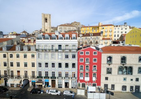 Alfama Colored Houses, Lisbon, Portugal