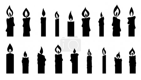 candle silhouettes