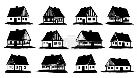 hut silhouettes