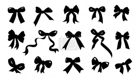ribbon bow silhouettes