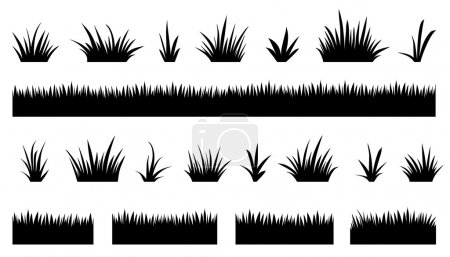 Illustration for Grass silhouettes2 on the white background - Royalty Free Image