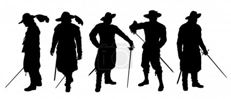 musketeer set silhouettes