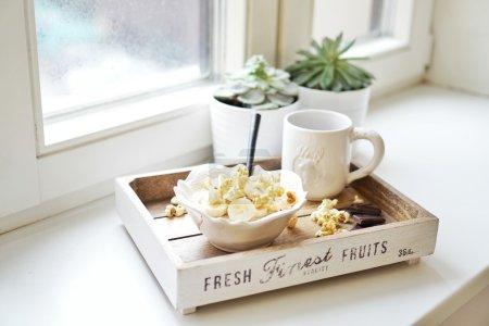 Banana popcorn porridge