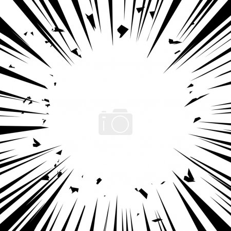 Illustration for Vector illustration. Comic explosion. Graphic radial speed lines. Comic book design element. - Royalty Free Image
