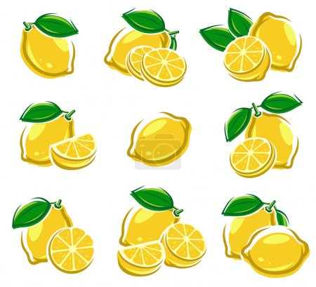 Illustration for Lemon set. Vector illustration - Royalty Free Image