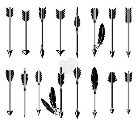 Illustration pour Flèche d'arc isolée sur fond blanc. Vecteur - image libre de droit