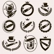 Cigars label and icons set. Vector...