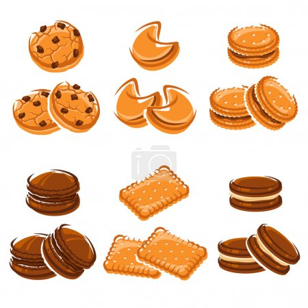 Brown and orange Cookies set
