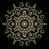 Gold color gradient ornament element abstract vector illustratio