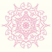 Pink abstract lines and swirl vector background