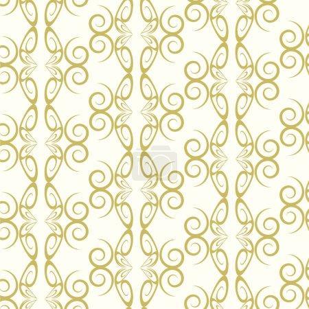 Illustration pour Abstrait lignes de motif sans couture courbe fond vectoriel - image libre de droit